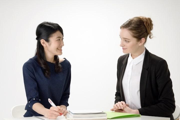 英語講師と生徒